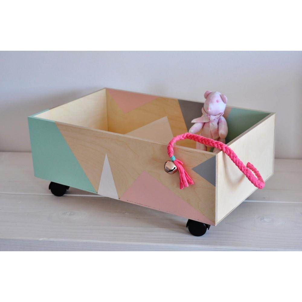 Χειροποίητο Ξύλινο Κουτί - Παιχνίδι Little Wagon
