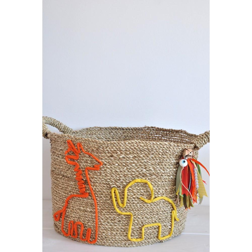 Κουτί Βάπτισης-Καλάθι Handmade Flamingo