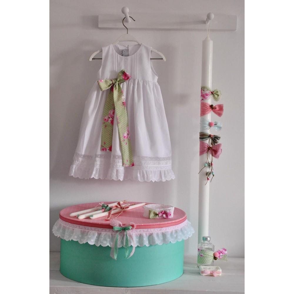 Πακέτο Βάπτισης για κορίτσι Ρομαντικό Mint