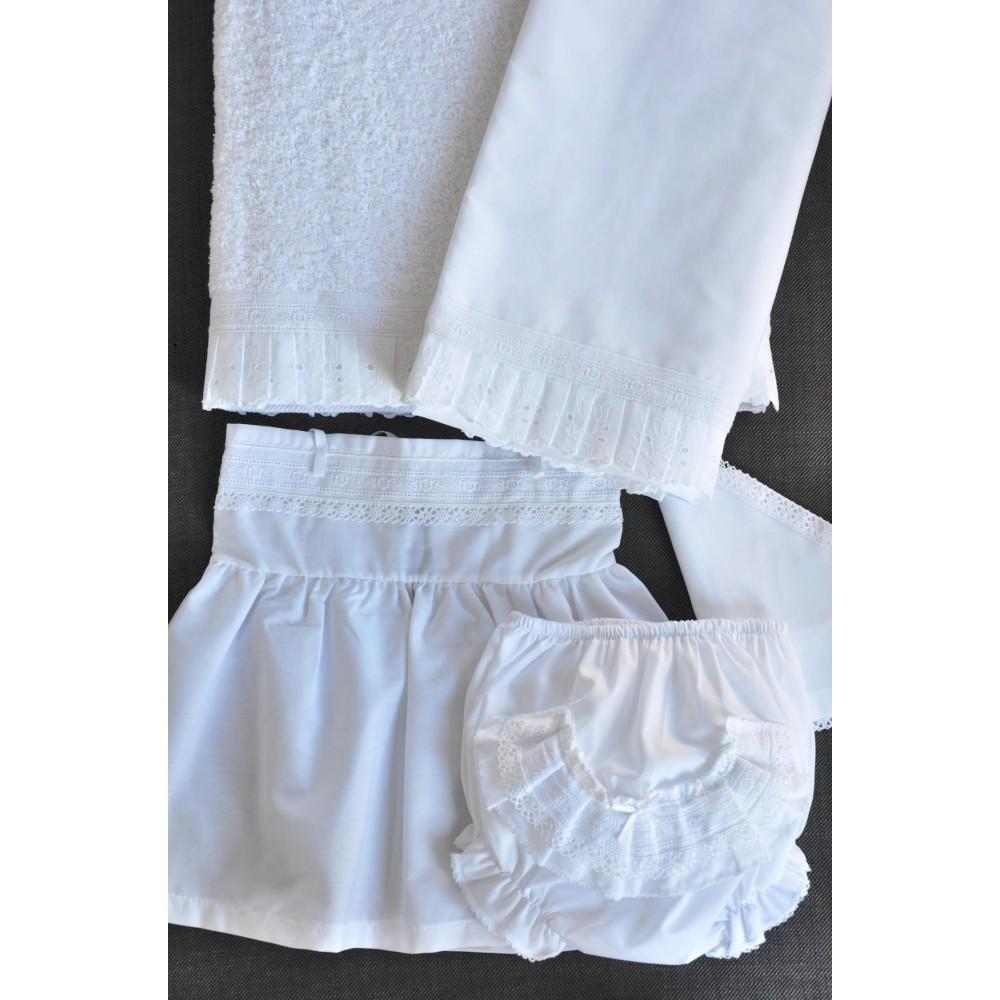 Σετ Πετσέτες και Λαδόπανα Βάπτισης για κορίτσι Αzure