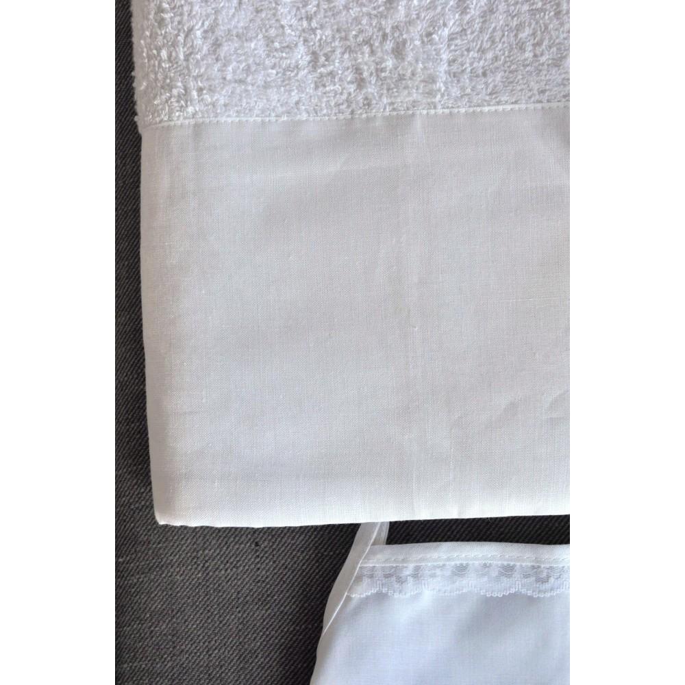 Σετ Πετσέτες και Λαδόπανα Βάπτισης για κορίτσι Linen