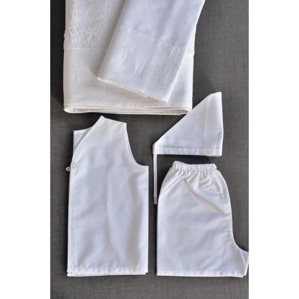 Σετ Πετσέτες και Λαδόπανα Βάπτισης για αγόρι Linen