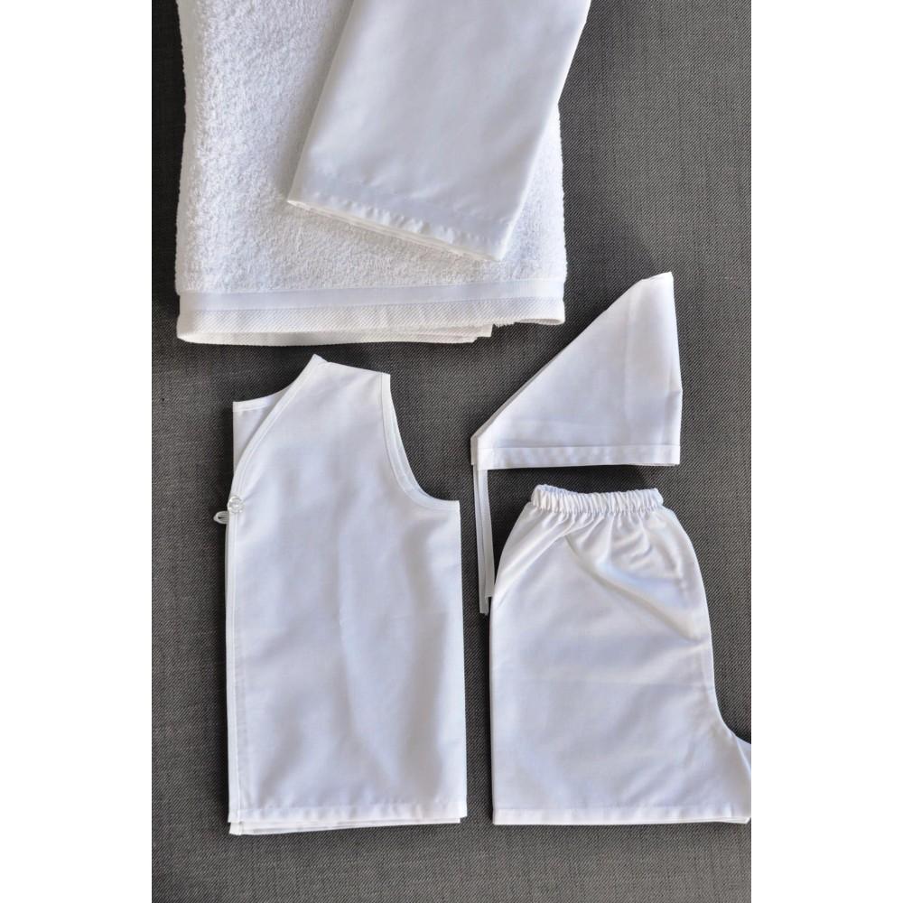 Σετ Πετσέτες και Λαδόπανα Βάπτισης για αγόρι Basic