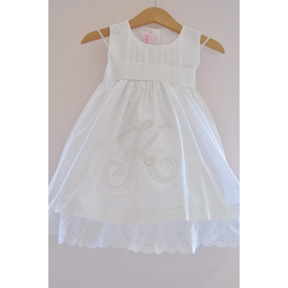 0715d4273e55 Χειροποίητο Φόρεμα Βάπτισης με μονόγραμμα Greekness