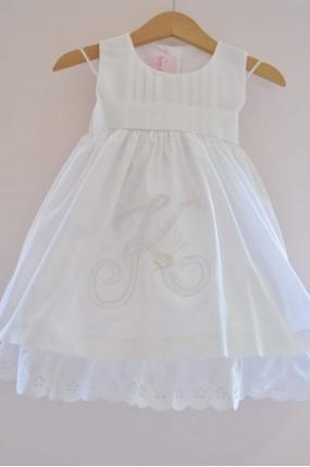 Χειροποίητο Φόρεμα Βάπτισης με μονόγραμμα Greekness 71dcfc0139d