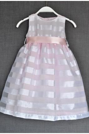 16ceb6a0bd31 Χειροποίητο Φόρεμα Βάπτισης Aura Dress in Pink