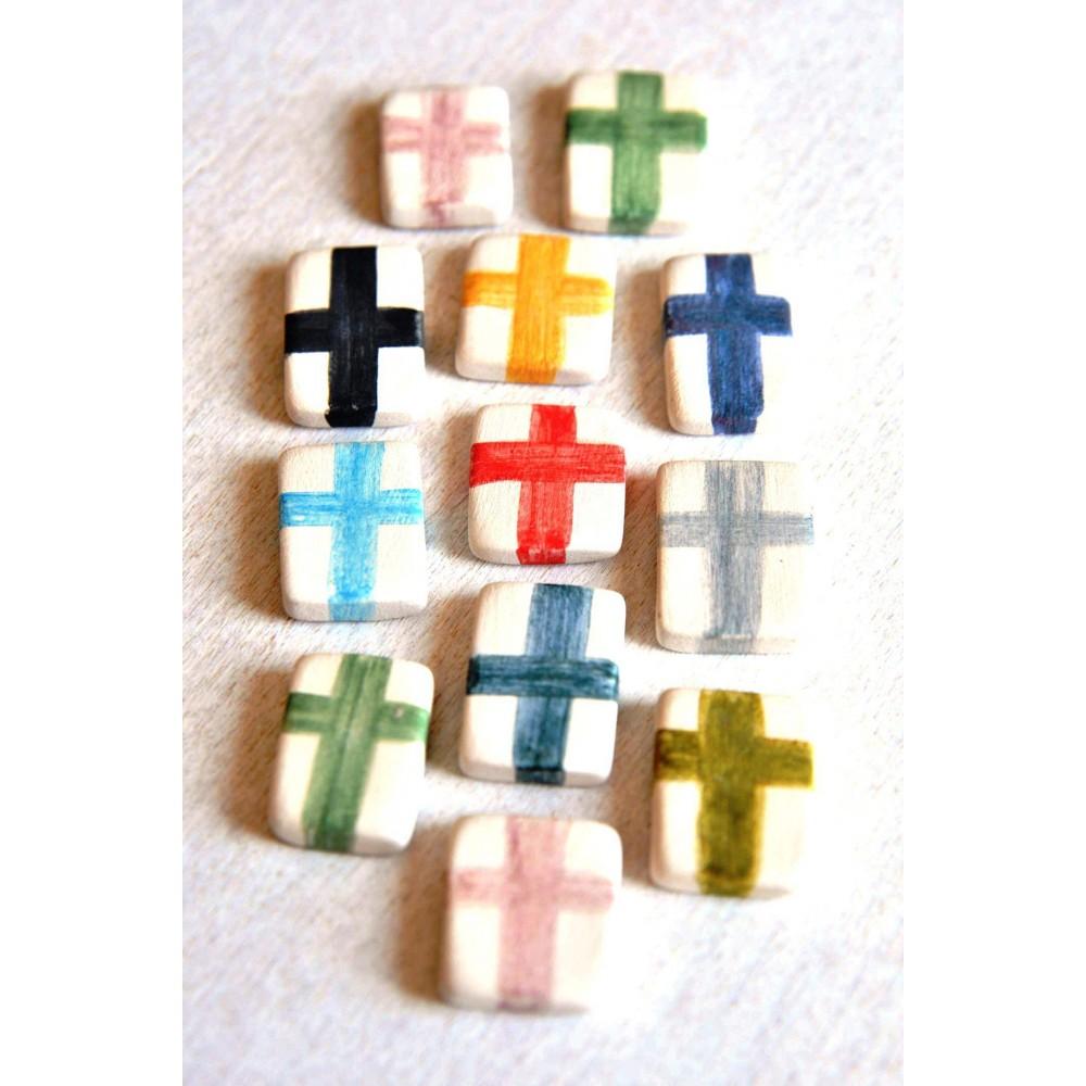 Χειροποίητα Μαρτυρικά Βάφτισης Ceramic Blocs