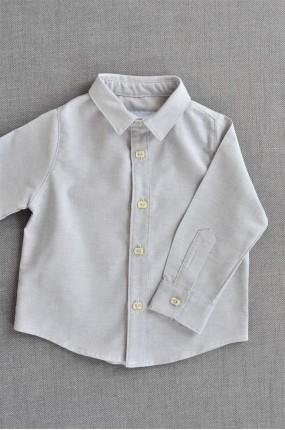 Χειροποίητο Πουκάμισο Βάπτισης Simply Grey e3f2336e50a