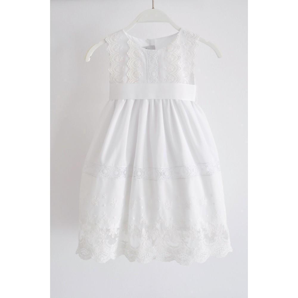 Χειροποίητο Φόρεμα Βάφτισης Charlotte