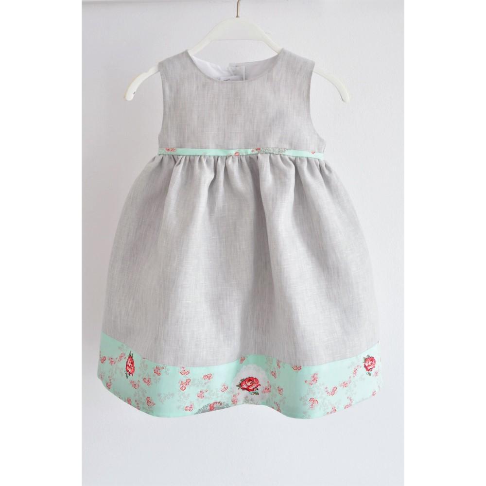 Χειροποίητο Φόρεμα Rose in Mint