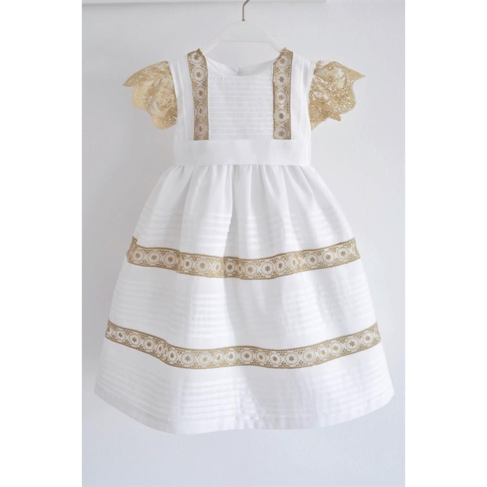 Χειροποίητο Φόρεμα Βάφτισης Chloe