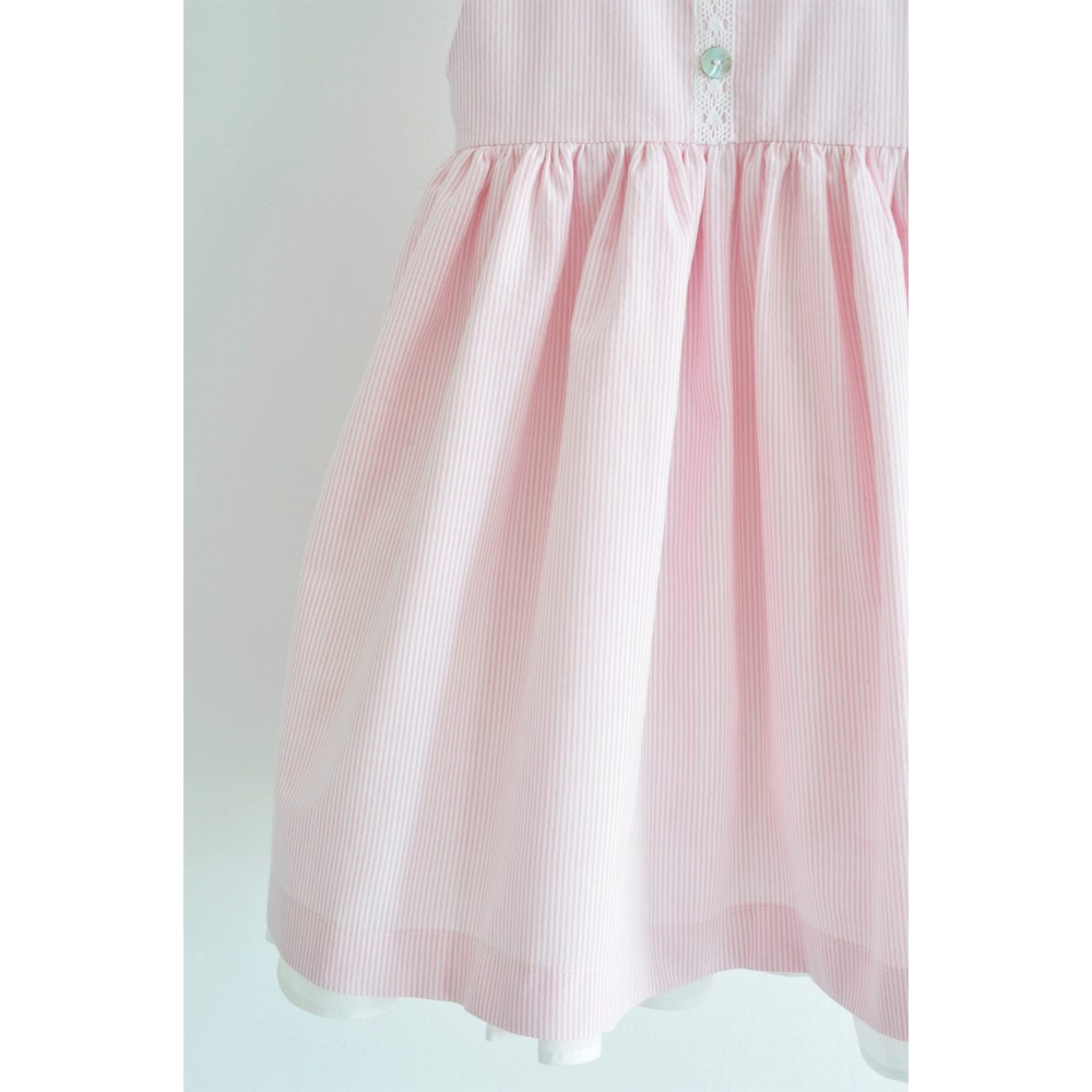 Χειροποίητο Φόρεμα Striped in Pink