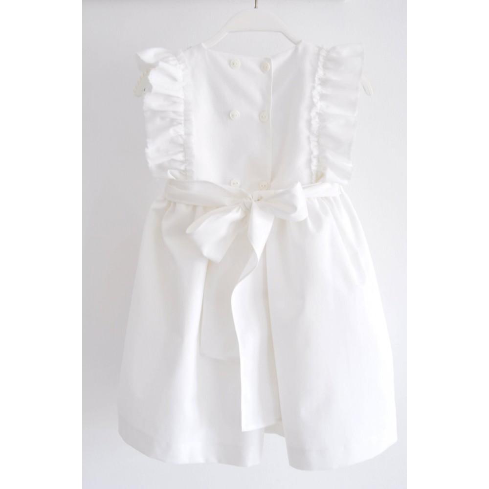 Χειροποίητο Λινό Φόρεμα Βάφτισης Nausica