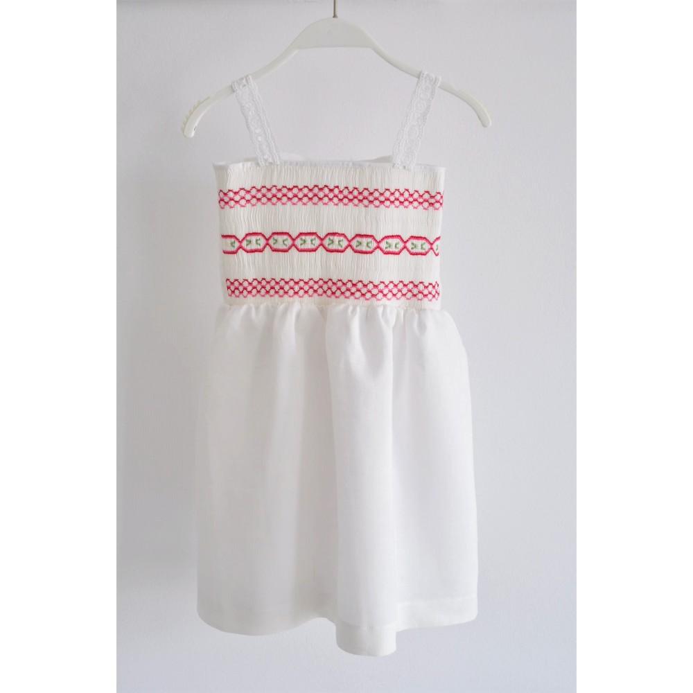 Χειροποίητο Φόρεμα Rose in Fucsia