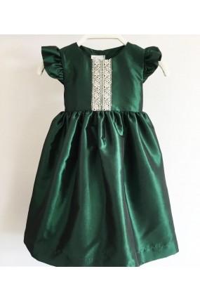 Χειροποίητο Φόρεμα Βάπτισης Romance in Green