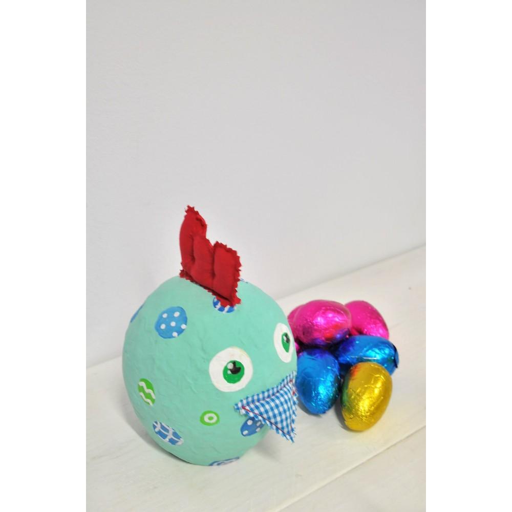 Χειροποίητη Κότα πουά με σοκολατένια αυγά