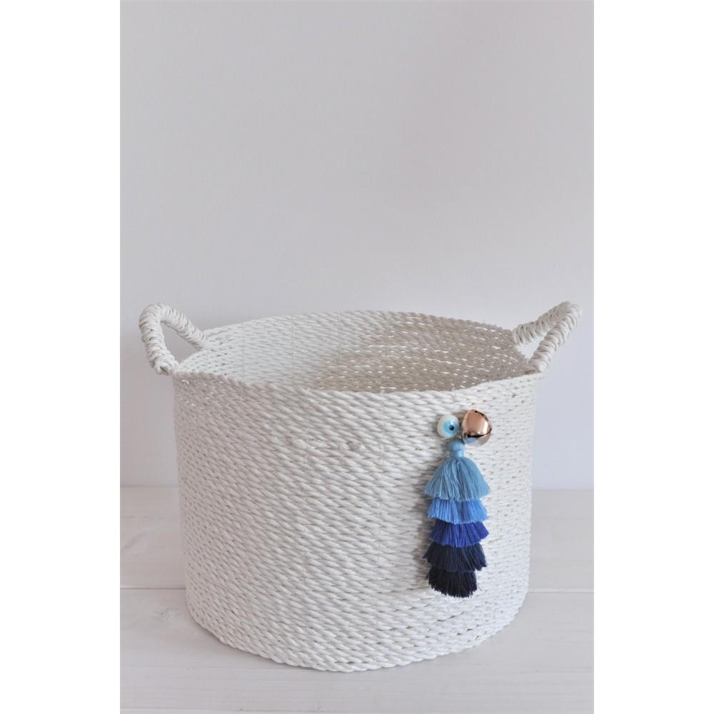 Κουτί Βάπτισης-Καλάθι Handmade Tassels