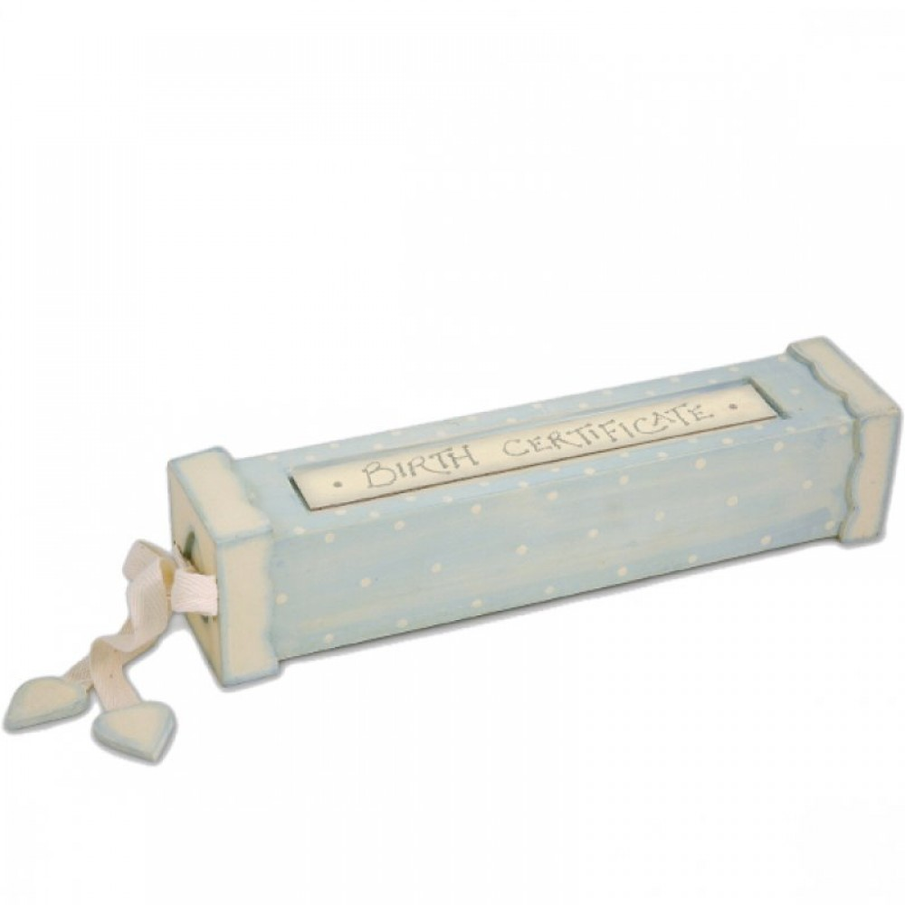 Ξύλινο κουτί για το πιστοποιητικό γέννησης
