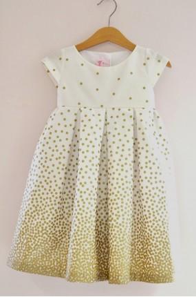 a99612d19424 Χειροποίητο Φόρεμα Βάφτισης Retro Dress in Gold