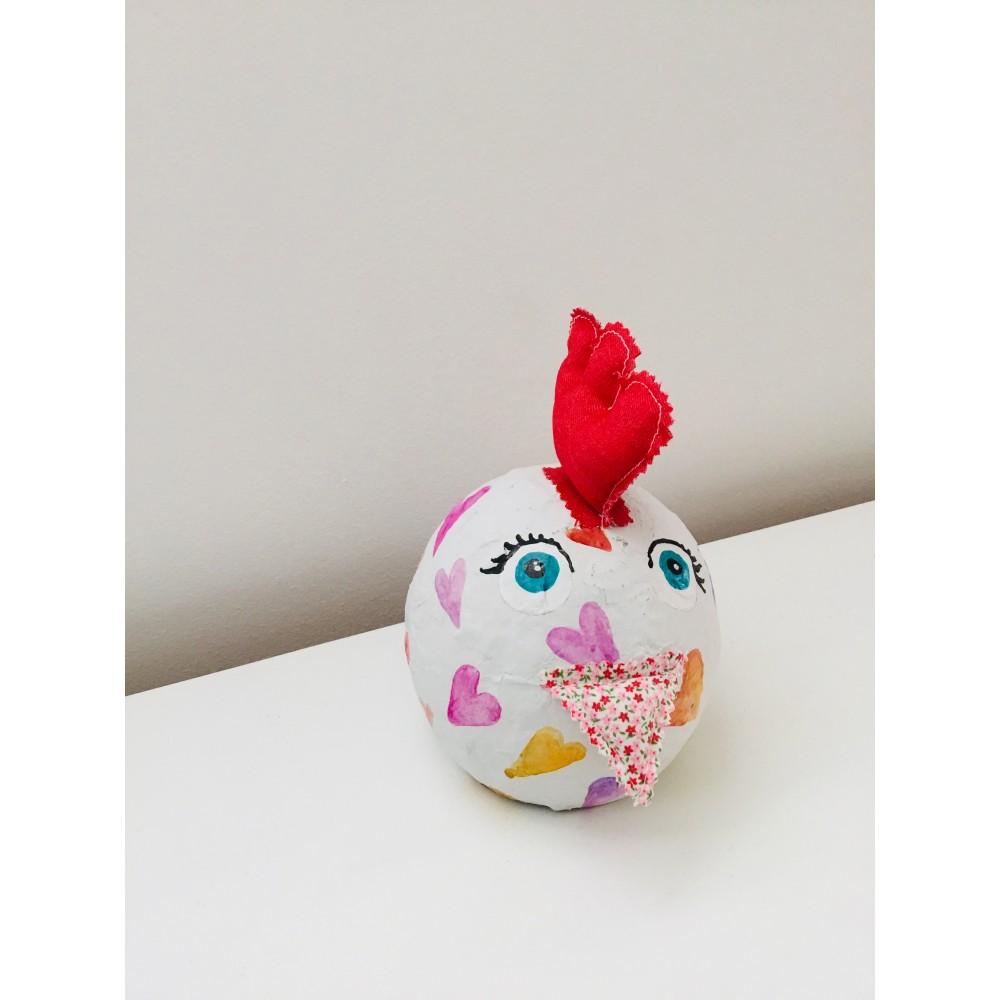 Χειροποίητη Κότα με σοκολατένια αυγά και όνομα