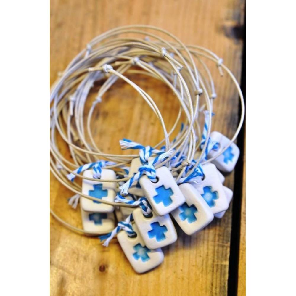 Χειροποίητα Μαρτυρικά Βραχιόλια Ceramic Rainbow Bracelets