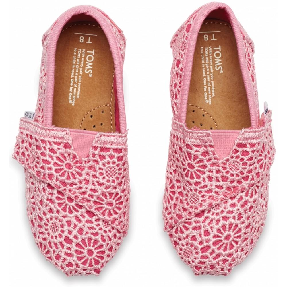 Παπούτσια TOMS Pink Crochet