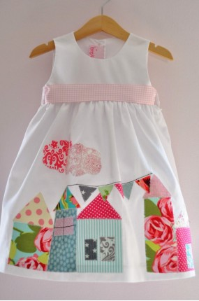 Χειροποίητο Patchwork Φόρεμα Βάπτισης Little Village 7f15b8a3b33