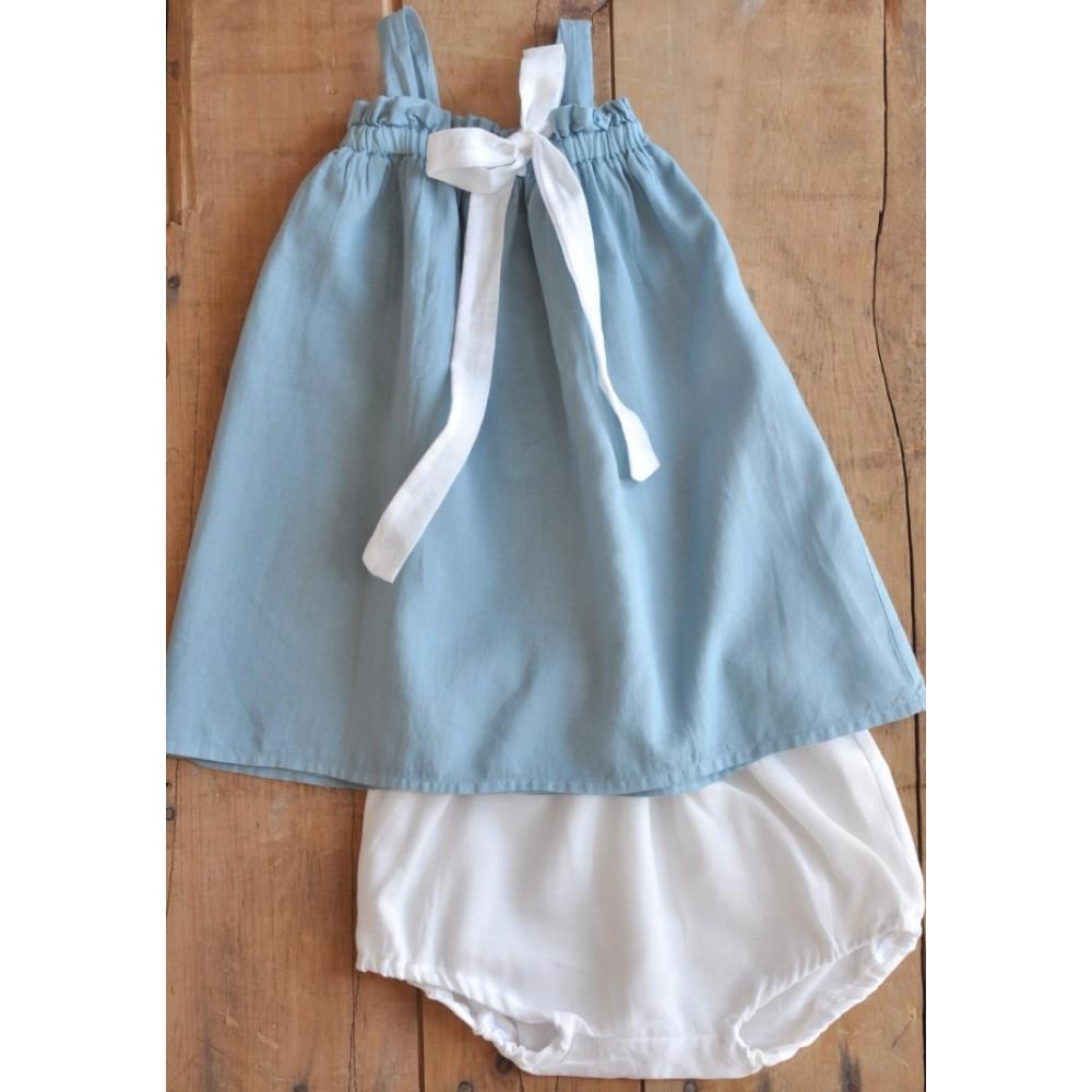 Φόρεμα με Φουφούλα Blue and White