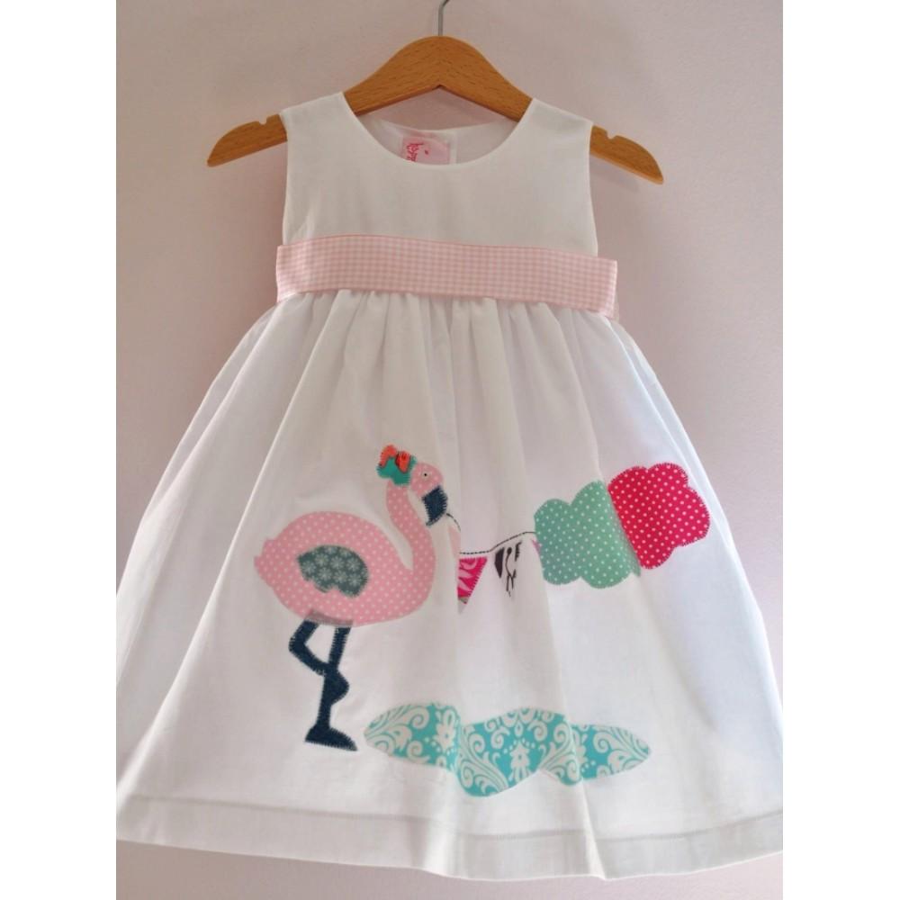 Χειροποίητο Patchwork Φόρεμα Βάπτισης Flamingo 264b5dfde06