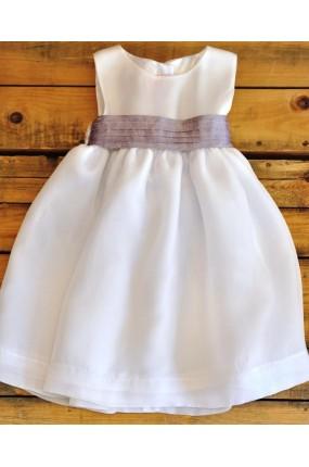 Χειροποίητο Φόρεμα Βάπτισης Οργαντίνας Romance in White a9f24477073