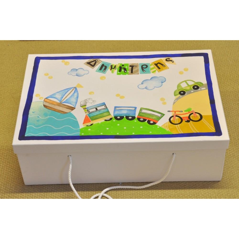 Handpainted Paper Box