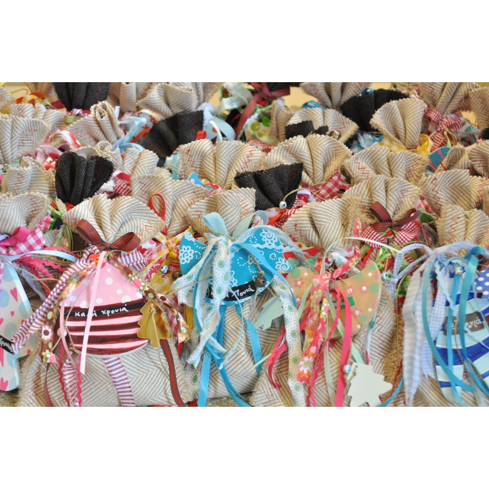 Chocolate Sachets with hand made ornaments